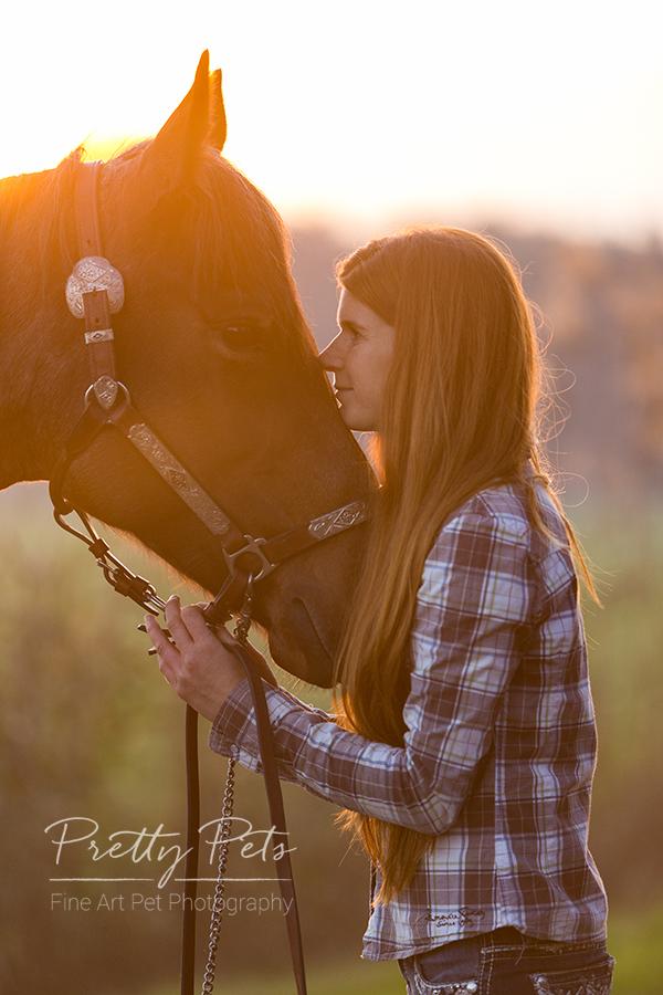 paardenfotografie bij avond